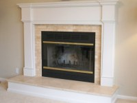 Travertine Traditional Fireplace - Traditional - Living ...