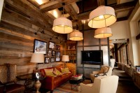 Smooth Barnwood mix wall paneling - Rustic - Living Room ...