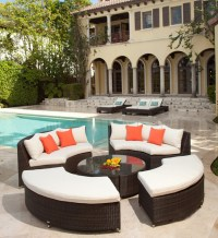 Modern Circular Wicker Sectional for the Patio ...