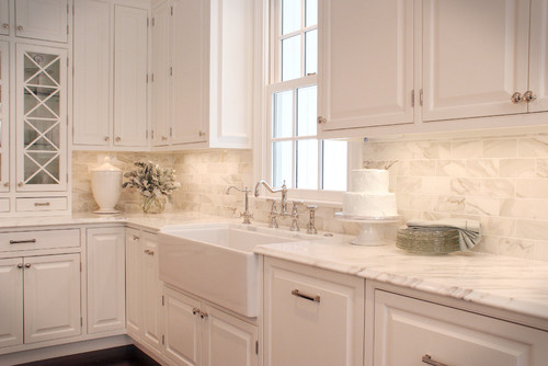 Calcutta Gold Marble In Five Kitchens We Love The Well Appointed - Calcutta kitchens