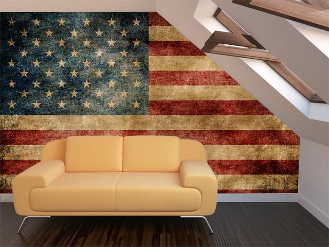 Vintage American Flag Wall Mural