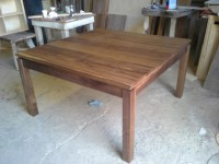 Square Walnut Table Dining Table - Contemporary - Dining ...