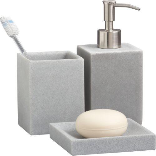 stone resin bath accessories  Modern  Bathroom