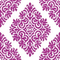 French Garden Damask, Plum - Wallpaper Tiles - Traditional ...