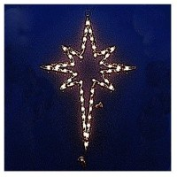 Lighted Star of Bethlehem - Outdoor Christmas Decorations ...