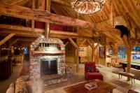 Montana Lodge Themed Barn Home - Traditional - Living Room ...
