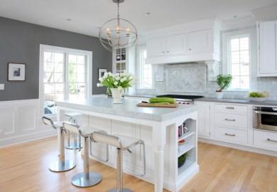 Grey And White Kitchen Houzz