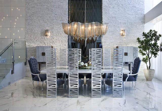 living room sets in miami fl coastal light blue walls contemporary condo - dining ...