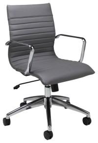 Pastel Janette Office Chair - Chrome and Aluminum - PU ...