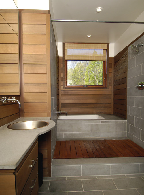 Where did the teak shower floor come from Love this