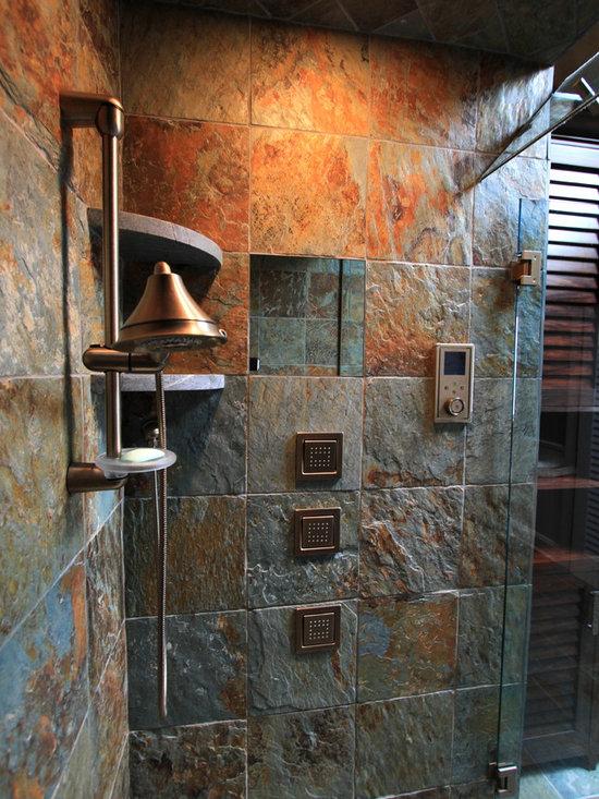 Rustic Bath Tile Bathroom Design Ideas, Pictures, Remodel