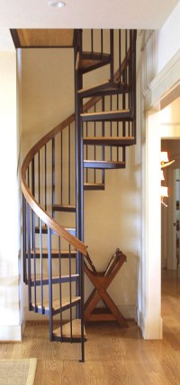Spiral Stair to loft.