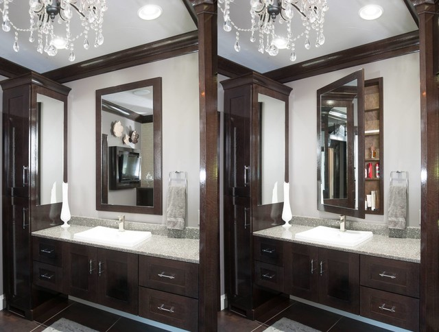 Restoration Hardware Style Home Transitional Bathroom Cleveland By Mullet Cabinet