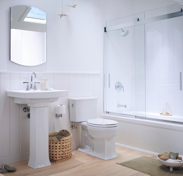 Small Coastal Bathroom  Traditional  Bathroom  other