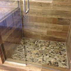 Lowes Decorating Ideas For Living Rooms 3 Pc Room Table Set Shower Remodel: Natural Look With Mosaic Flat Rock Pebbles ...
