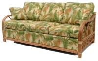 Naples Collection, Rattan Sleeper Sofa - Tropical ...