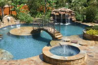 Tropical Backyards With A Pool - Country Home Design Ideas