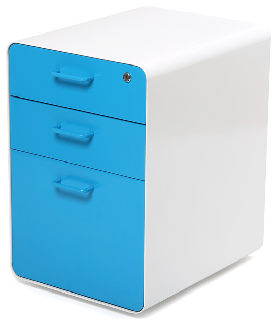 West 18th File Cabinet WhitePool Blue  Modern  Filing