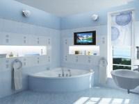 15wateprroof lcd tv modern-bathroom