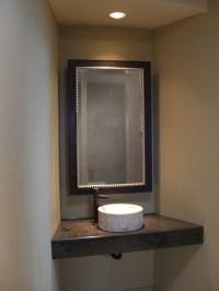 Custom Bathroom Mirrors - Mediterranean - Powder Room ...