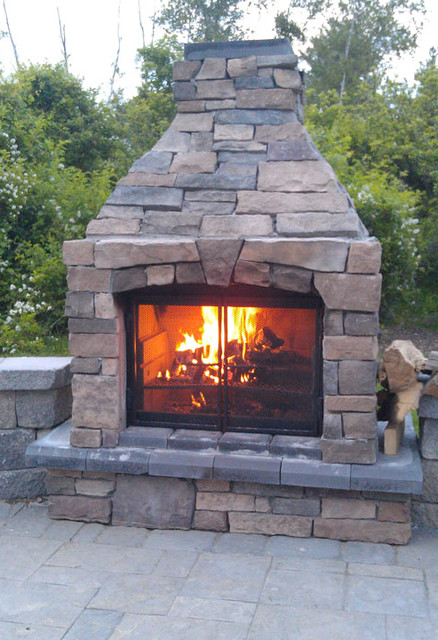 portable kitchen cabinet pantry storage units perfect outdoor fireplace 3 screen - transitional ...