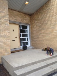 Front door color for Mid Century Modern in Chicago