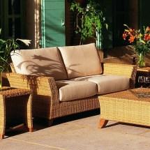 palm beach outdoor wicker sofa
