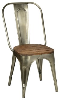 Metal and Wood Chair - Industrial - Dining Chairs - other ...