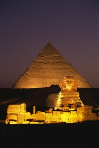 Pyramid and Sphinx, Egyptian Culture. Canvas Wall Art ...