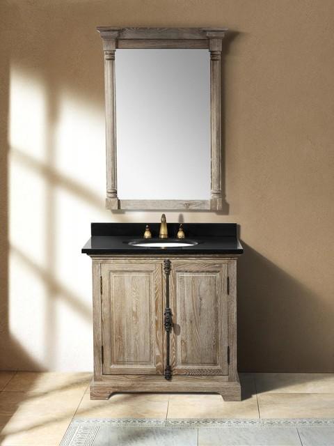 355 Alvito Single Bath Vanity  Driftwood  Transitional