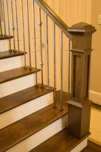 The new Craftsman style staircase