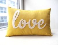Yellow Love PIllow by Honey Pie Design - Modern ...