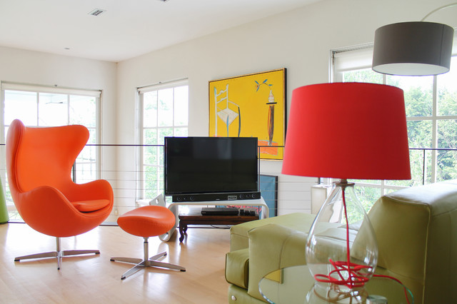 eclectic family room by Laura Garner