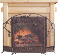 Pinecone Fireplace Screen - Contemporary - Fireplace ...