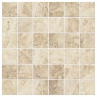 Cappucino Polished Travertine 2 x 2 in Mosaic Tile.
