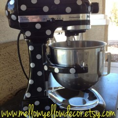 Kitchen Aid Mixer Accessories Unfinished Base Cabinets With Drawers Kitchenaid Vinyl Decals, Polka Dot By Mellow Yellow ...