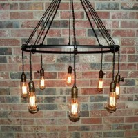 Simple wrought iron chandelier