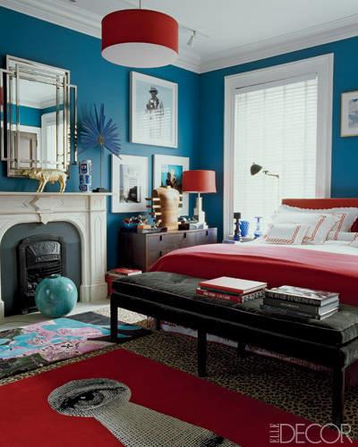 Elle Decor feature  Contemporary  Bedroom  new york