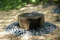 Basalt Natural Stone Fountain - Asian - Landscape - san ...