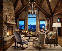Mountain Home Remodel - Rustic - Living Room - other metro ...