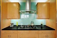 Large Glass Tile Backsplash contemporary-kitchen