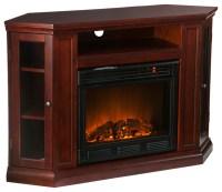 Pomona Convertible Media Electric Fireplace, Cherry ...