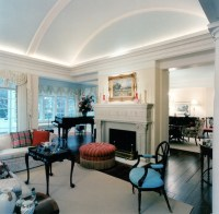 Barrel Vaulted Ceiling - Traditional - Living Room ...