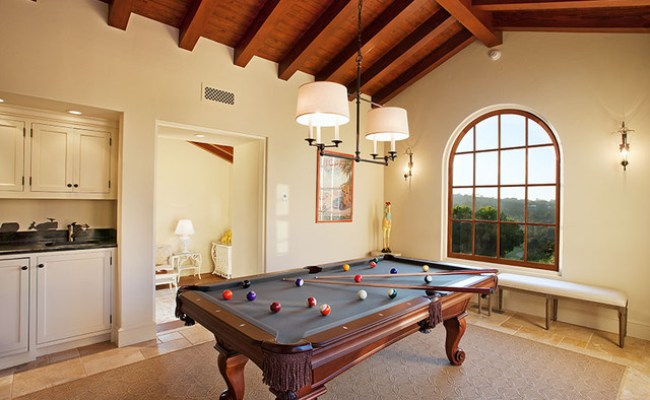 Hope Ranch Spanish Style Custom Home Game Room