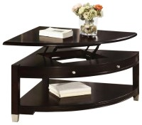 Coaster Liberty Pie Shaped Lift Top Cocktail Table in Dark ...