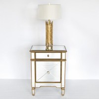 Worlds Away Claudette Nightstand Edged in Gold ...