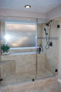Tub to shower conversion after remodel - Traditional ...