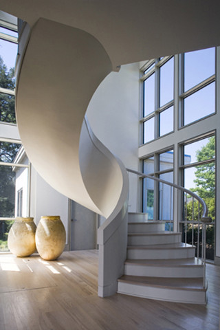 Interior Spiral Stair Modern Staircase Providence