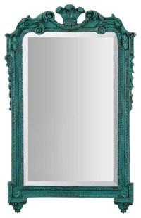 Uttermost Andreina 32x20 Turquoise Mirror - Mediterranean ...