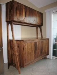 Midcentury Modern Walnut Kitchen Hutch - Midcentury ...